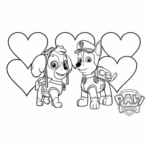 chase and skye paw patrol coloring book