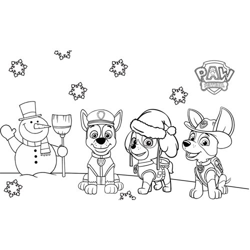 merry christmas paw patrol coloring book