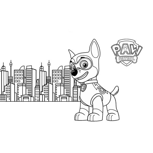 chase city watchman paw patrol coloring book