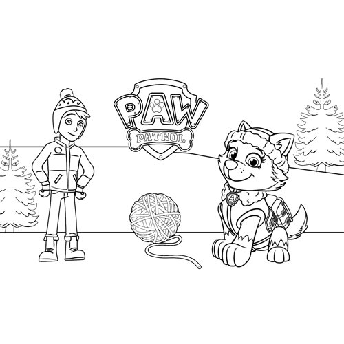 jake and everest paw patrol coloring book