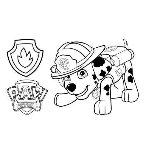marshall the firefighter paw patrol coloring book