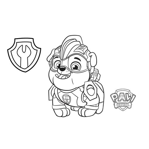 rubble in his work paw patrol coloring book