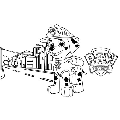 marshall working paw patrol coloring book