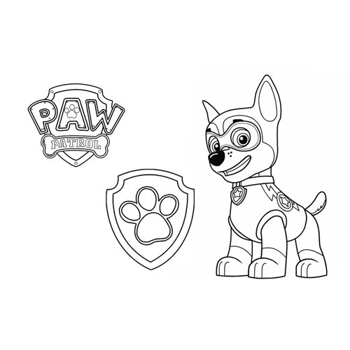 chase into action paw patrol coloring book