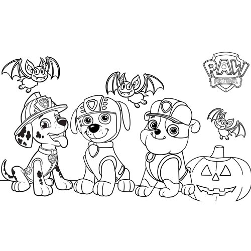 happy halloween paw patrol coloring book
