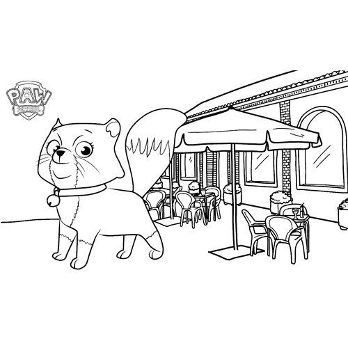 katie's pet cali paw patrol coloring book