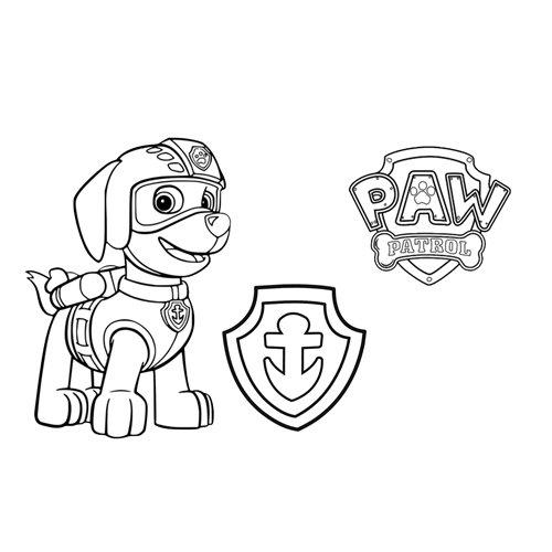 zuma lifeguard paw patrol coloring book