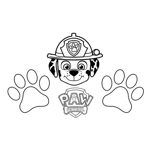 happy marshall paw patrol coloring book