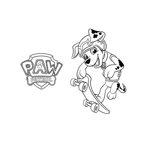 funny marshall paw patrol coloring book