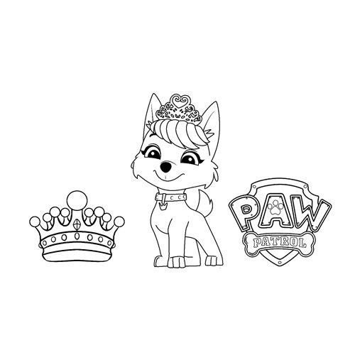 sweetie paw patrol coloring book