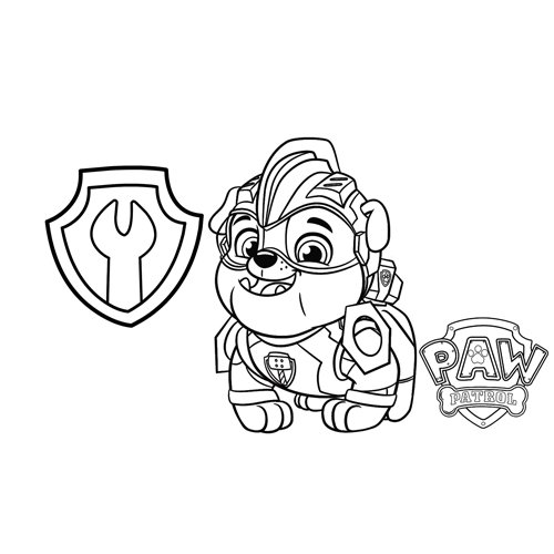 rubble the builder paw patrol coloring book