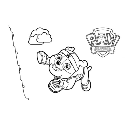 rubble climber paw patrol coloring book