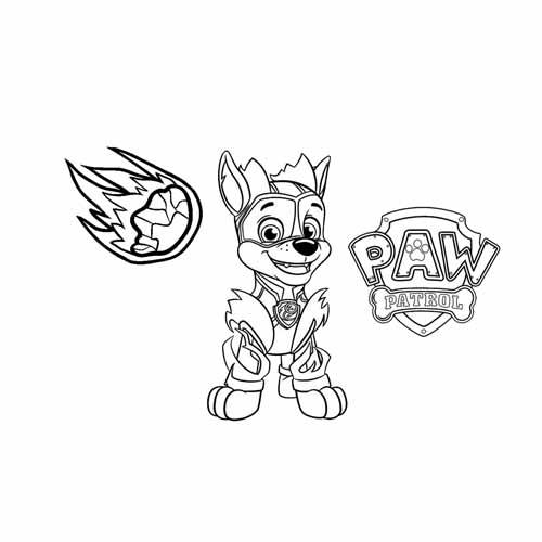 super rocky paw patrol coloring book
