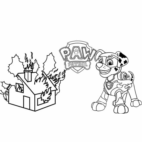 marshall controlling the fire paw patrol coloring book