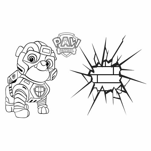 super rubble in action paw patrol coloring book