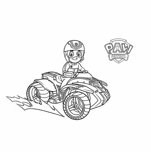 ryder paw patrol coloring book
