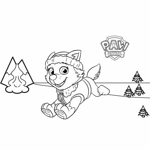 cute everest paw patrol coloring book