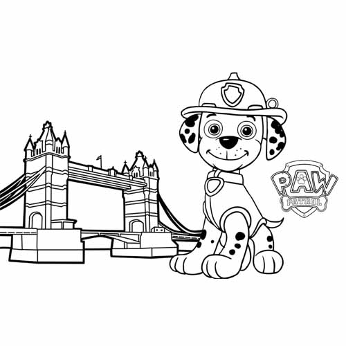 super funny marshall paw patrol coloring book