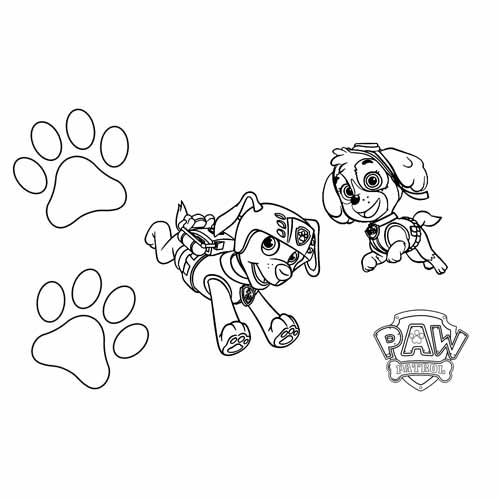 Zuma and skye up high paw patrol coloring book