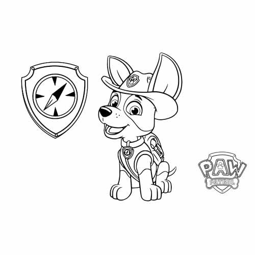 cute tracker paw patrol coloring book