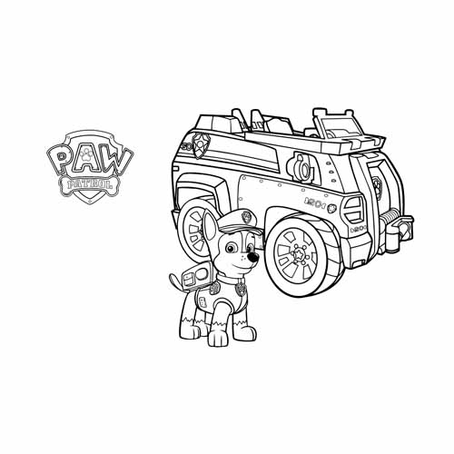 super chase paw patrol coloring book