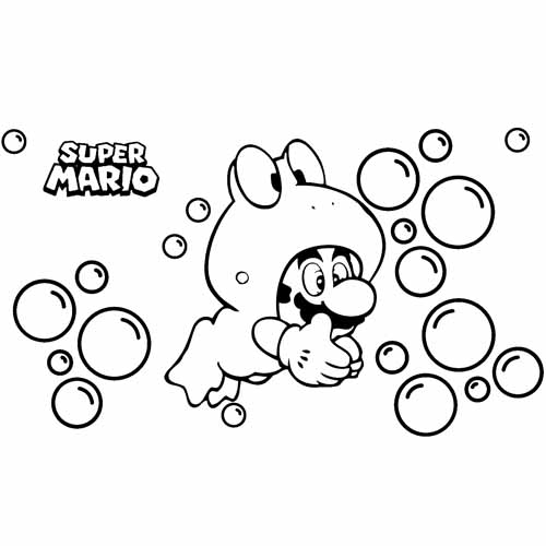 mario the frog coloring book