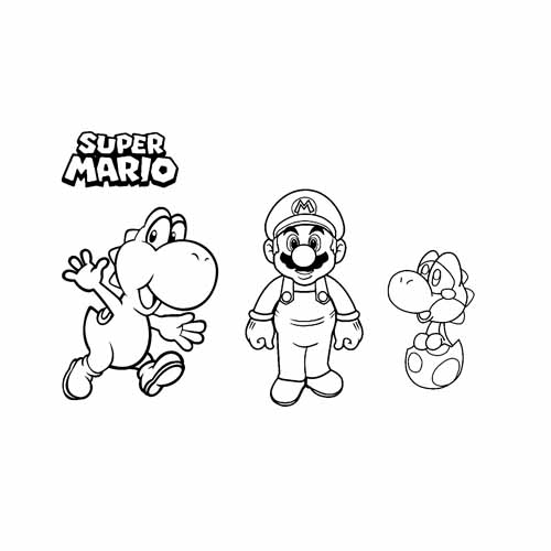 mario and joshi BFF coloring book
