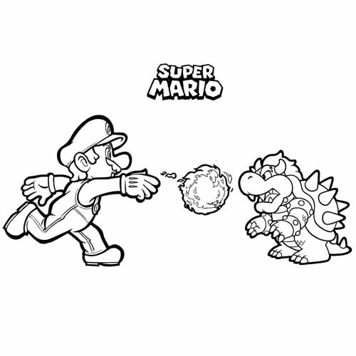 mario and browser coloring book