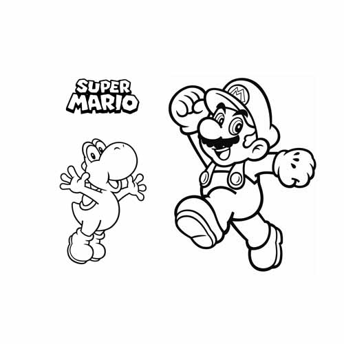mario bros and joshi coloring book