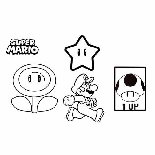 booster of mario coloring book