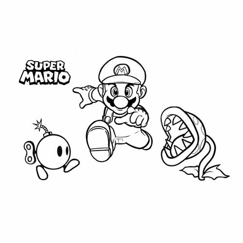 mario winning coloring book