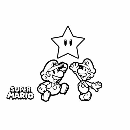 mario and luigi winning star coloring book