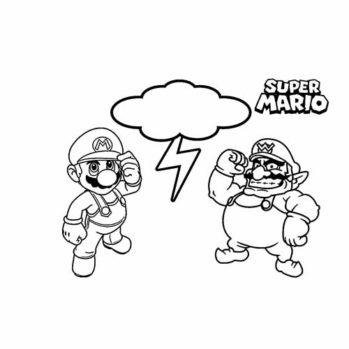 mario and wario coloring book