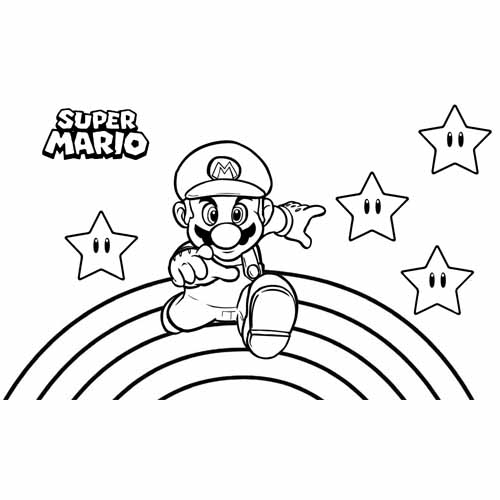 magic mario coloring book