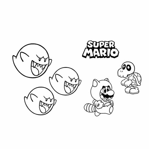 happy halloween mario coloring book