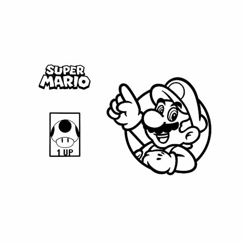 mario bros game over coloring book
