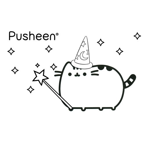 pusheen fairy coloring book
