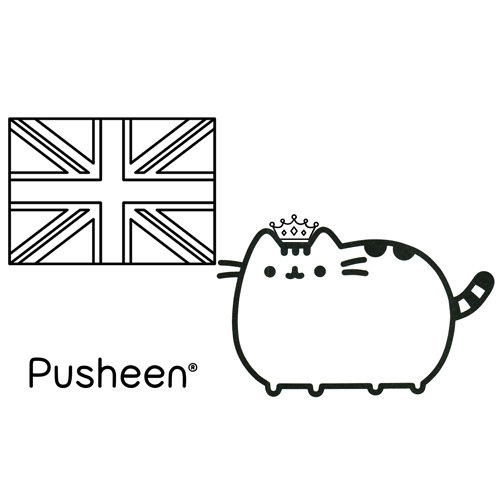 pusheen the queen coloring book