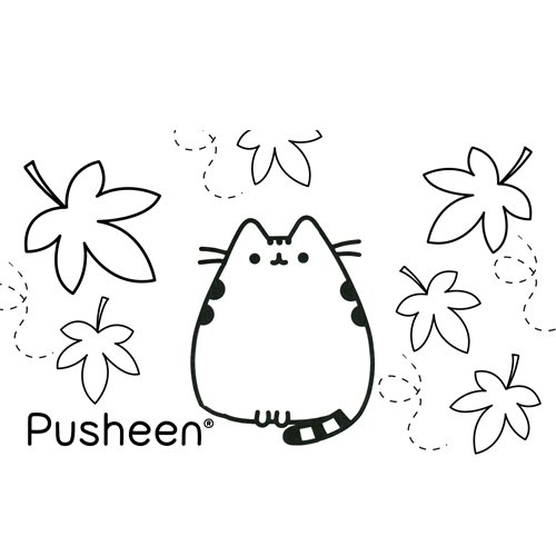 pusheen in the fall coloring book