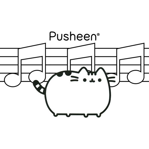 musical pusheen coloring book
