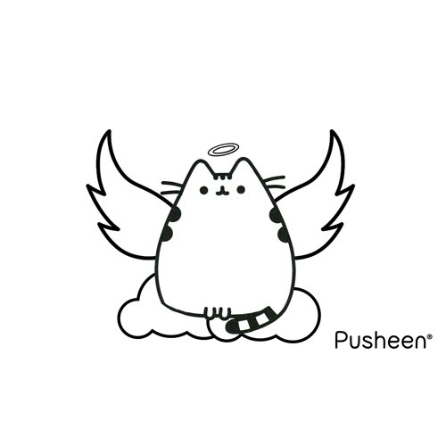 pusheen little angel coloring book