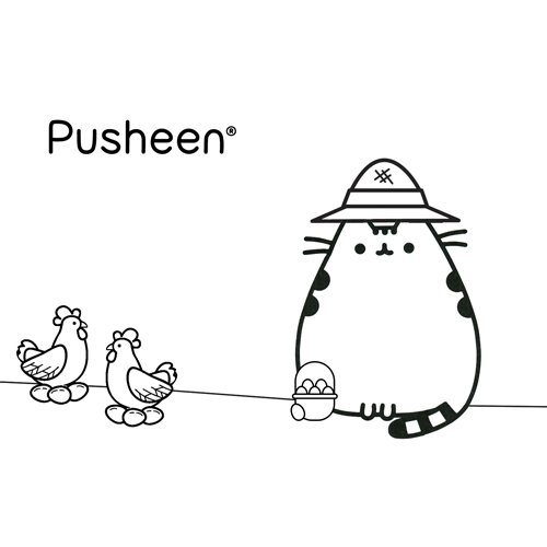 pusheen farmer coloring book