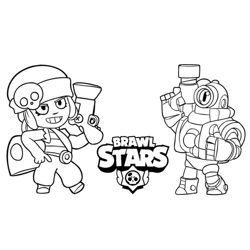 penny and rico brawl stars coloring book