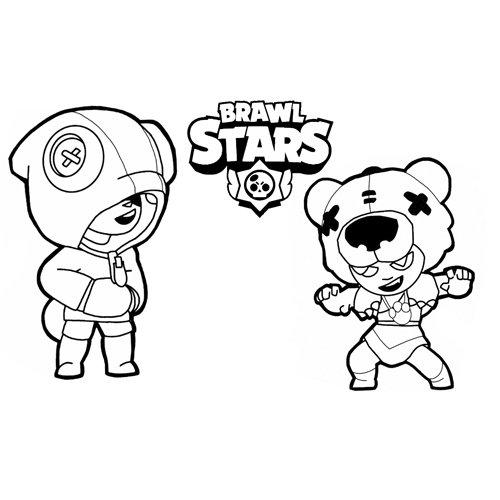 leon and nita brawl stars coloring book