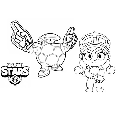 darryl and jessie brawl stars coloring book