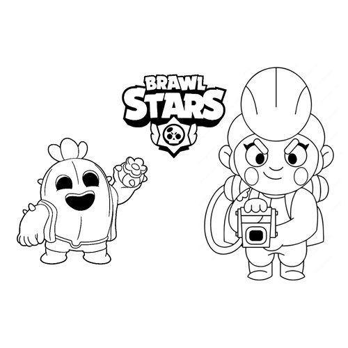 star ability pam and spike brawl stars coloring book