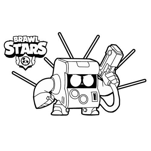 bit 8 brawl stars coloring book