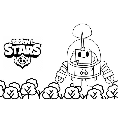 sprout brawl stars coloring book