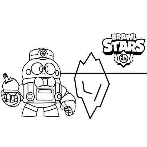 lou brawl stars coloring book