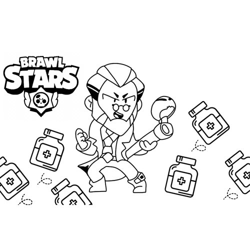byron brawl stars coloring book